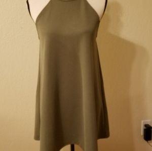 Forever 21 tank mini dress. Olive green. Size M